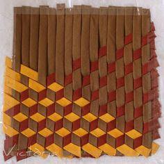 Mosaic Optical Illusion Weaving
