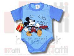 Kojenecké body s krátkym rukávom od Disney. Na obrázku je postavička myšiak Mickey ..