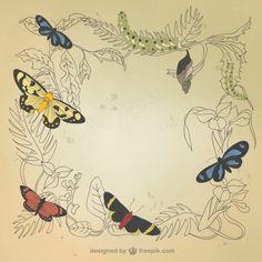 Dibujado a mano decoración natural
