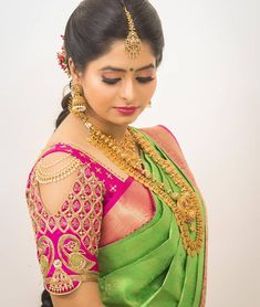 Latest Trending Silk Saree Blouse Designs To make it easier for you, we have the top trending beautiful silk saree blouse designs so that you can choose the best for your saree look. Blouse Back Neck Designs, Cutwork Blouse Designs, Wedding Saree Blouse Designs, Pattu Saree Blouse Designs, Fancy Blouse Designs, Blouse Patterns, Traditional Blouse Designs, Wedding Sarees, Dress Designs