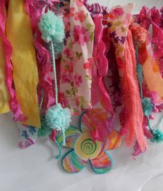 Bohemian Garland Home Decor Gypsy Upcycled Art Fabric