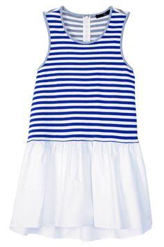 Tibi Racetrack Stripe Sleeveless Top - It's maritime! Shop nautical styles for Memorial Day Weekend: http://www.harpersbazaar.com/fashion/fashion-articles/nautical-summer-apparel