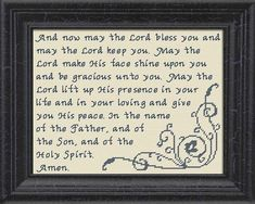 The Benediction - Numbers Cross Stitch Design