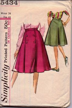 vintage pattern simplicity 5434