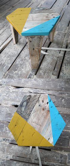 Tabouret en bois de palette - design Rdutemps - fabrication Les Rencontres Alternatives