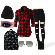 Explore❤️ by mariamakbbh on Polyvore featuring polyvore, fashion, style, LE3NO, Accessorize and Ray-Ban