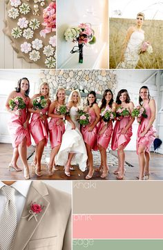 : wedding color palette colors winter colors winter wedding Khaki Pink Sage - Wedding Day Pins : You're Source for Wedding Pins! Wedding Theme Inspiration, Wedding Themes, Inspiration Boards, Wedding Decor, Rustic Wedding, Free Wedding, Wedding Day, Wedding Stuff, Wedding Pins