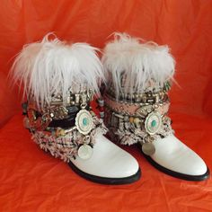 SPRING 7 Med VAMP Women Upcycle Gypsy Boho Urban Cowboy Hippie Boot ankle ethnic #Vintage #CowboyWestern