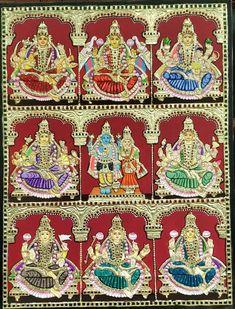 Pooja Mandir, Tanjore Painting, Mother Goddess, God Pictures, Hindus, Body Heat, Durga, Goddesses, Mythology