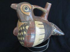 i love me a bird pot.     AUTHENTIC NAZCA BIRD VESSEL moche inca huari wari chavin pre-Columbian pottery    antiqueauctionsnow.net
