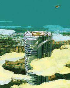 ロスジェネの逆襲 #lifestyle #illustration #illustrator #buildings #city #sky #clouds #tokyo #japan #chopper #helicopter #aerial #イラスト #イラストレーション #池井戸潤