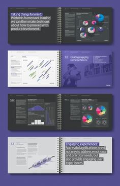 Socio Design - Nokia 'Context is Everything' Brochure. I like the purple and black manage color. Ad Design, Book Design, Layout Design, Identity Design, Print Design, Essay Layout, Book Layout, Editorial Layout, Editorial Design