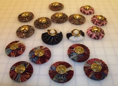 Fabric-covered sewing pattern weights