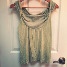 Mint Green Anthro Romantic Blouse Adorable top by Vanessa Virginia from Anthropologie. Soft and draping. Rarely worn - a little wrinkly but otherwise in excellent condition. Could also fit a size small (I'm definitely not an XS, but this blouse fits comfortably). Anthropologie Tops Tank Tops