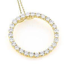 Luxurman 14k Gold 4 2/5ct TDW Diamond Circle of Love Necklace (H-I, VS1-VS2) (14k