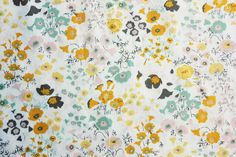 Quilting Fabric, Japanese Fabric, Floral Fabric, Cotton, Very Pretty Little Flowers in Yellow Pink Green on White, Extra Wide, Half Metre by TwoChubbyRabbits on Etsy https://www.etsy.com/dk-en/listing/475993101/quilting-fabric-japanese-fabric-floral