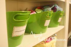 How to organize toys | A Bowl Full of Lemons