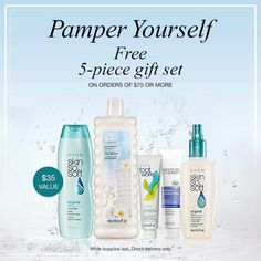 DEAL ALERT! Get a FREE 5 - piece bath and body gift set with your $75 order.  Youravon.com/lindavaldes