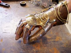 Brass Steampunk Gauntlet Armour