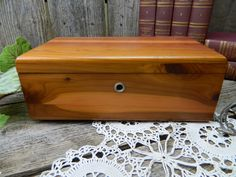 Vintage Mid Century Lane Cedar Wood Jewelry Box by allthatsvintage56 on Etsy