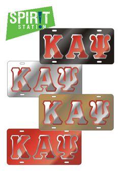 Kappa Alpha Psi Domed Shield Mirror Car Tag License Plate
