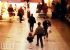CCTV capture of Jon Venables and Robert Thompson, both 10, abducting 2 year old James Bulger from a shopping centre in Liverpool. The two ten year olds would go on to torture Bulger, beating him bricks and stones, pouring paint in his eye and inserting batteries into his mouth and, allegedly, his rectum. His skull was fractured ten times when his head was repeatedly struck with an iron bar. The injuries were so severe and extensive that a pathologist could not specify what blow had killed the child.