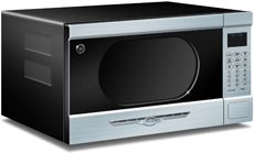 Northstar appliances - microwave in textured black