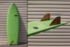 Sandia Fish - Almond Surfboard, Plywood twin fins by GULLY