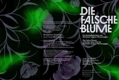 Flyer für die Ausstellung - Die falsche Blume - ein Designmärchen von Hermann August Weizenegger