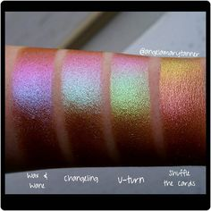 """720 Likes, 18 Comments - Angela Tanner (@angelamarytanner) on Instagram: """"Topshop 'chameleon glow' eyeshadows ($13) Link in bio I told you guys these shadows were…"""""""