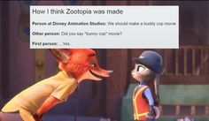 Zootopia is a 2016 Academy Award-winning animated film produced by Walt Disney Animation Studios. Disney Love, Disney Magic, Disney Stuff, Disney And Dreamworks, Disney Pixar, Disney Memes, Funny Disney, Funny Cartoons, Funny Humor