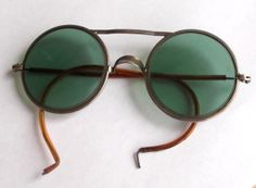 Antique Green WILLSON glasses spectacles lenses safety by vakvar, $75.00