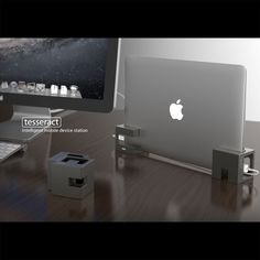 Esoterism Tesseract, Intelligent Mobile Device Station - aluminum alloy stand for MacBooks, iPads, and iPhones
