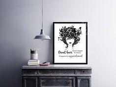 #salon #hairdresser #hairstylist #typography #quote Check more #digitalprint #walldecor #artprint themed at my #etsy store www.etsy.com/shop/InspirationWallDecor