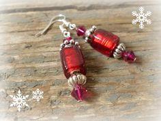 Red bead earrings red earrings handmade earrings red door reccabella