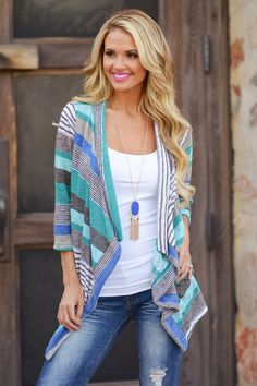Don't Count Me Out Cardigan - Mint from Closet Candy Boutique #fashion #shop