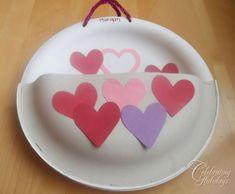 Paper Plate Valentine Card Holder