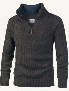 Soft wool blend jumper in a half neck style with great cable knit detailing. The funnel neck is lined with warm fleece to help beat the breeze.