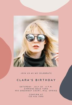 Paintery - Birthday Invitation #invitations #printable #diy #template #birthday #party Free Birthday Invitations, Text Messages, Printable, Phone Backgrounds, Party, Diy, Island, Bricolage, Text Messaging