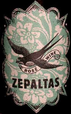 Zepaltas Rose´ wine (label design by yours truly) to use in the Rhubarb/Rose´ jam