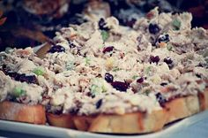I am going to try this one for sure! Chicken salad served like bruschetta