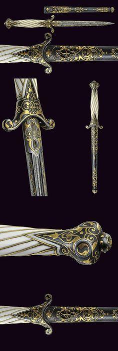 A beautiful small dagger, Russia, mid 19th century.