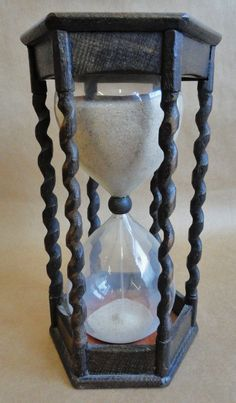 19th C. Barley Twist English Sand Timer