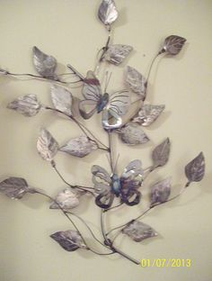 recycled metal wall art... butterfly