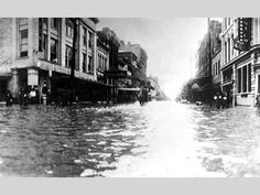 Galveston, Texas  after Hurricane in the 1900's