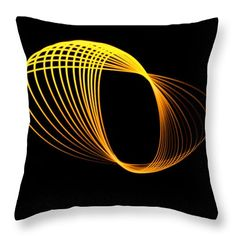 Light Painting Throw Pillow featuring the photograph Crossing The Yellow Line by Marnie Patchett