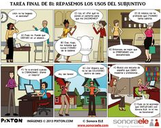 B1 - Tarea Final: Usos del Subjuntivo. [Actividad completa en El Blog de Sonora ELE.] Spanish Phrases, Ap Spanish, Spanish Grammar, Spanish Vocabulary, Spanish Language Learning, Spanish Teacher, Spanish Classroom, Spanish Lessons, Teaching Spanish