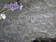 My ninth great grandmother, Susannah Martin