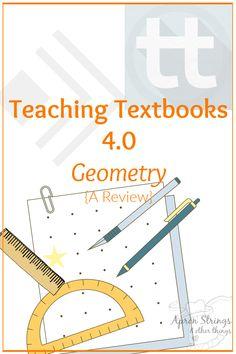 Teaching Textbooks 4.0 Geometry {A Review} Homeschool Math Curriculum, Homeschooling, Geometry Book, Teaching Textbooks, Parents As Teachers, Upper Elementary, Math Lessons, Middle School, Apron