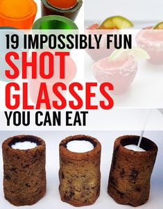 19 Shot Glasses You Can Eat. And not just for liquor either! The best are for desserts, puddings, and pie fillings.